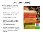 dvd cover back