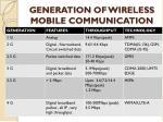 generation of wireless mobile communication