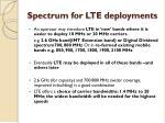 spectrum for lte deployments