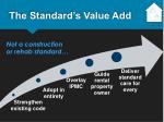 the standard s value add