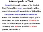 a travel guide to tibet