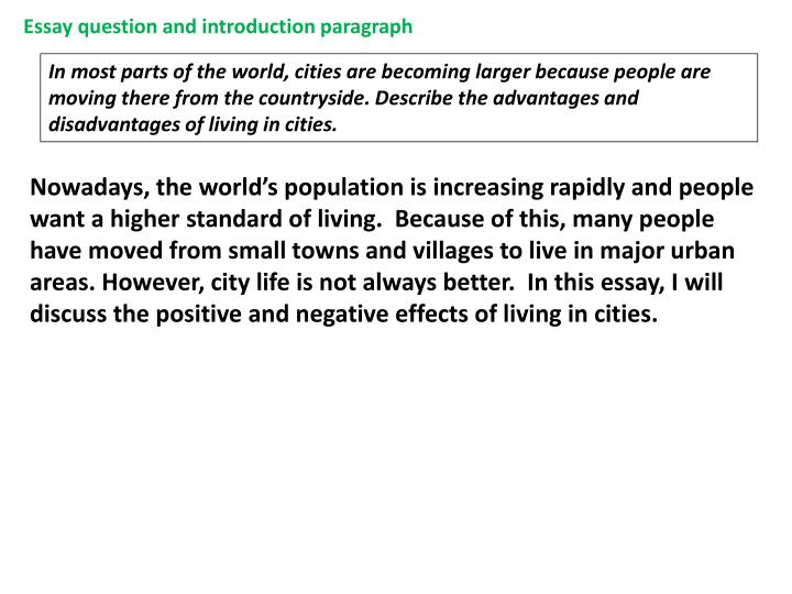 advantages of living in the countryside essay