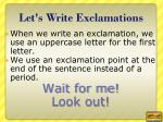 let s write exclamations1
