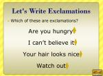 let s write exclamations2