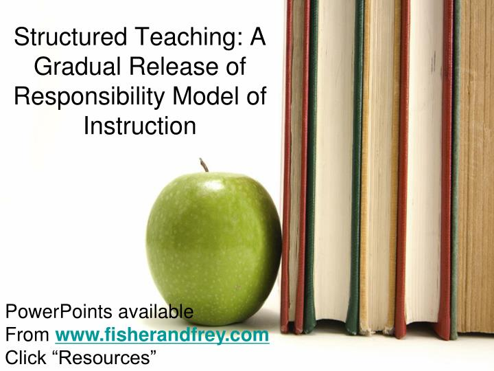 structured teaching a gradual release of responsibility model of instruction n.