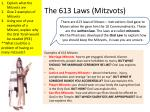 the 613 laws mitzvots