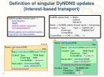 definition of singular dyndns updates interest based transport