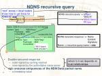ndns recursive query