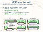 ndns security model