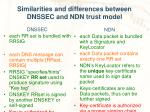 similarities and differences between dnssec and ndn trust model