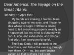 dear america the voyage on the great titanic