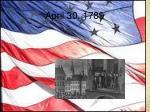 april 30 1789
