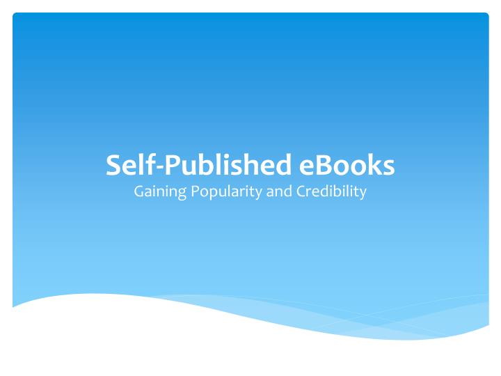 self published ebooks n.
