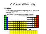 c chemical reactivity