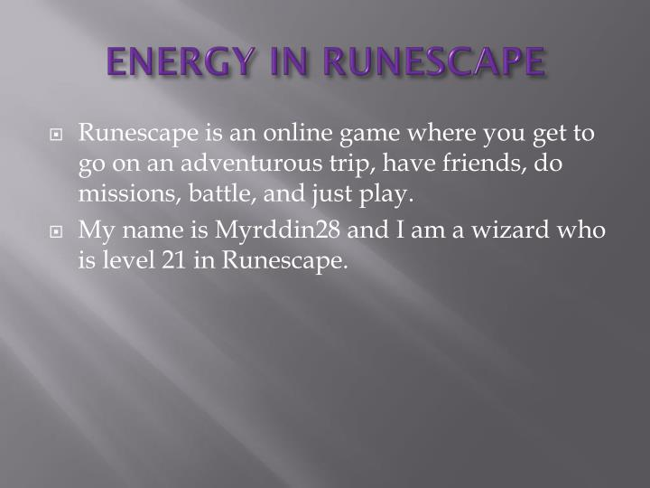energy in runescape n.
