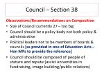council section 38