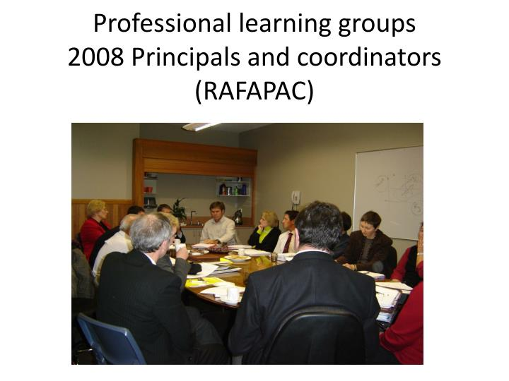 Professional learning groups