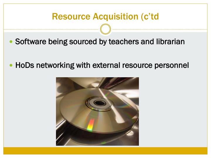 Resource Acquisition (