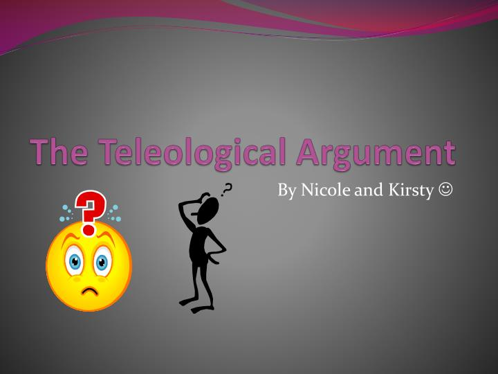 the teleological argument n.