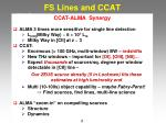 fs lines and ccat