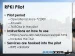 rpki pilot