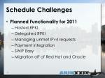schedule challenges