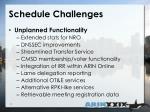schedule challenges1
