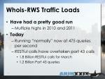 whois rws traffic loads