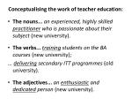 conceptualising the work of teacher education