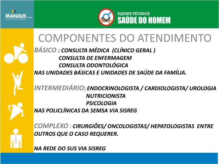COMPONENTES DO ATENDIMENTO