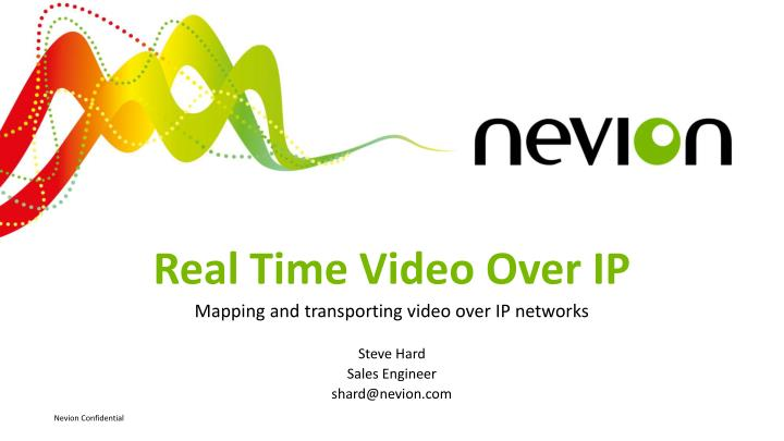 real time video over ip n.
