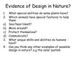 evidence of design in nature