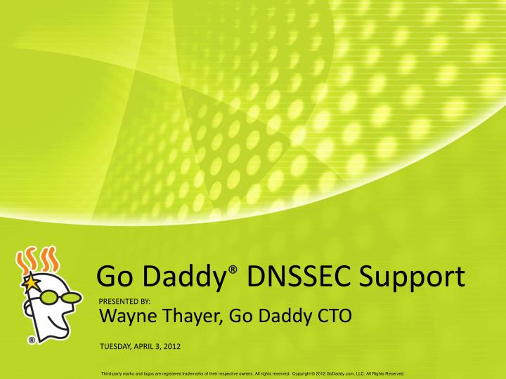 go daddy dnssec support n.