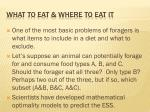 what to eat where to eat it