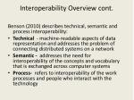 interoperability overview cont