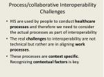 process collaborative interoperability challenges