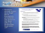 eagle block exemption permission form