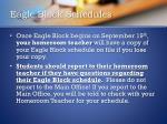 eagle block schedules