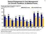 patient engagement in care management for chronic condition by medical home