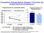 pennsylvania geisinger medical navigator home sites and hospital admissions readmissions