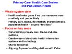 primary care health care system and population health