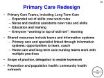 primary care redesign