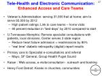 tele health and electronic communication enhanced access and care teams