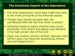 the emotional impact of the depression