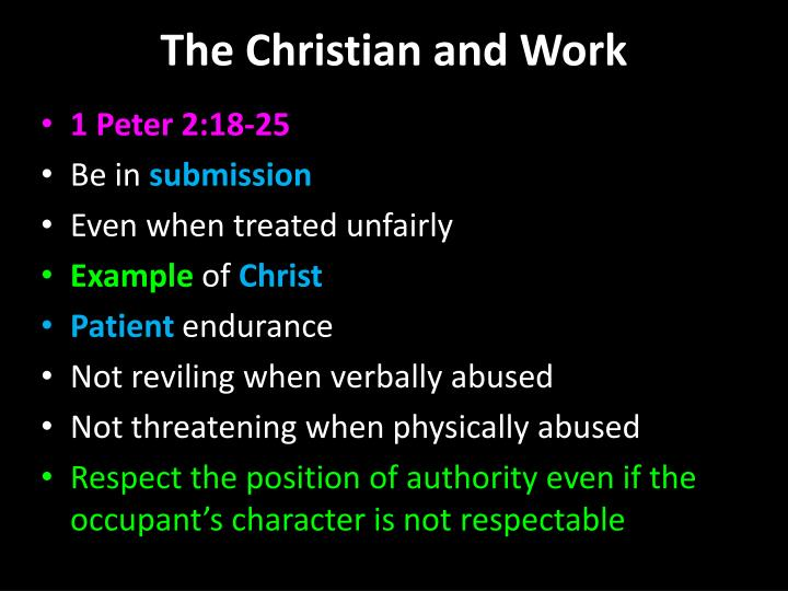 The christian and work1