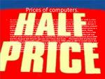 prices of computers
