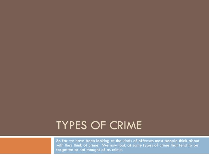 types of crime n.