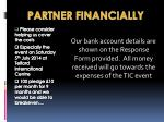partner financially