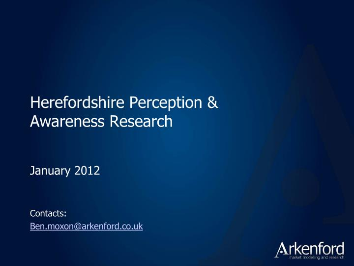 herefordshire perception awareness research n.