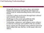 unit enduring understandings